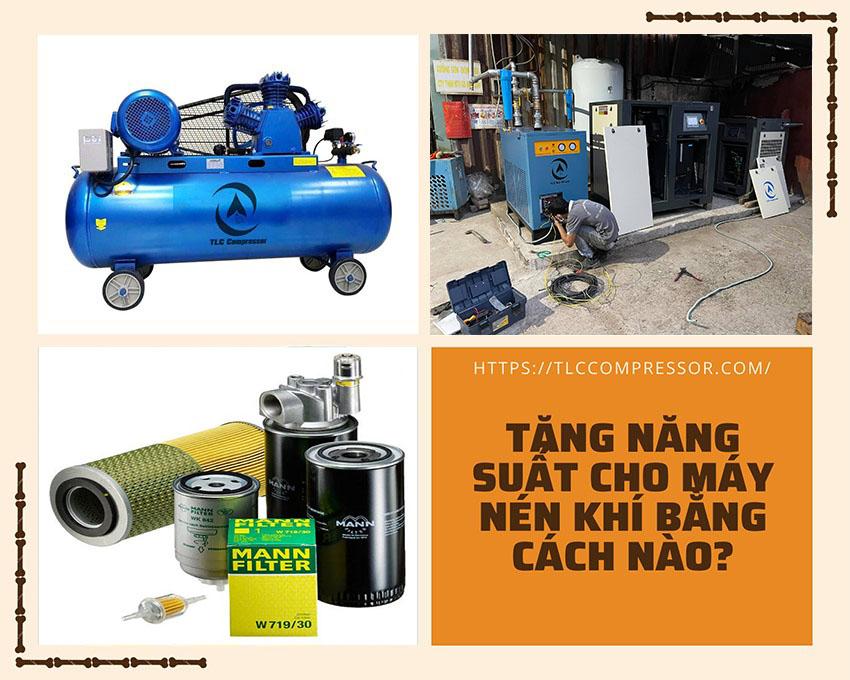 cách tăng năng suất cho máy nén khí