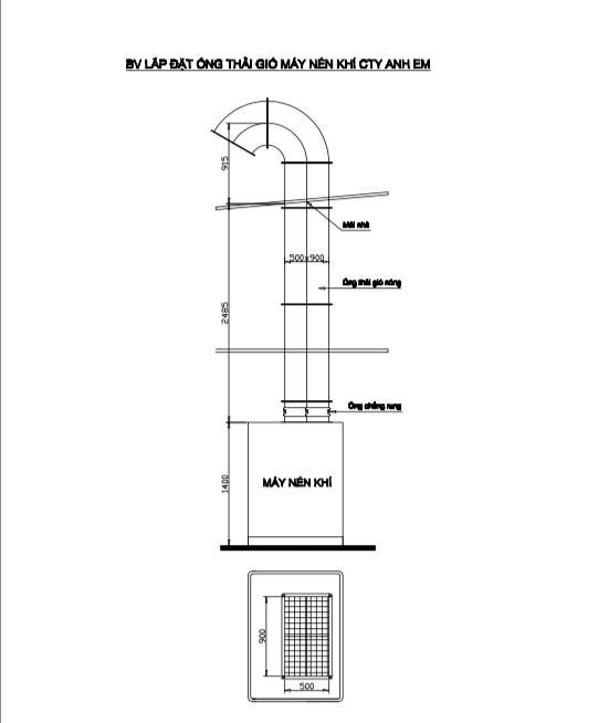 Cách thiết kế phòng máy nén khí