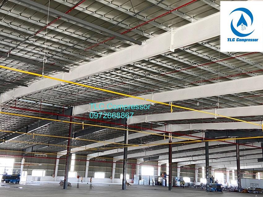 TLC - Thiết kế thi công lắp đặt hệ thống đường ống khí nén cho nhà xưởng